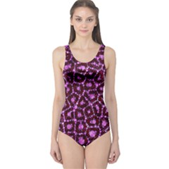Cheetah Bling Abstract Pattern  One Piece Swimsuit