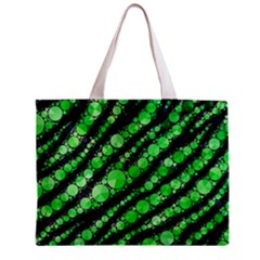 Florescent Green Tiger Bling Pattern  Tiny Tote Bag