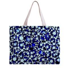 Bright Blue Cheetah Bling Abstract  Tiny Tote Bag by OCDesignss