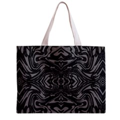 Trippy Black&white Abstract  Tiny Tote Bag by OCDesignss