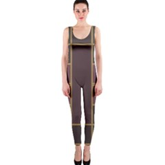Vertical And Horizontal Rectangles Onepiece Catsuit