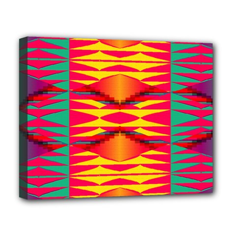 Colorful Tribal Texture Deluxe Canvas 20  X 16  (stretched) by LalyLauraFLM