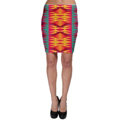 Colorful Tribal Texture Bodycon Skirt