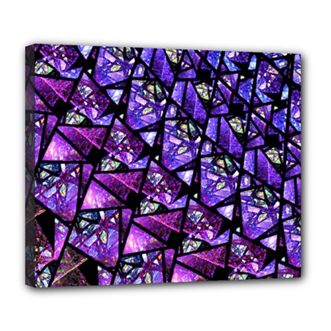 Blue Purple Glass Deluxe Canvas 24  X 20  (framed)
