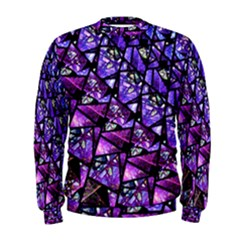 Blue Purple Glass Men s Sweatshirt by KirstenStar