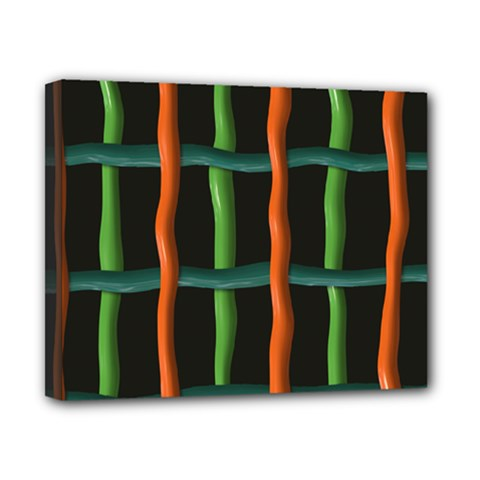 Orange Green Wires Canvas 10  X 8  (stretched) by LalyLauraFLM