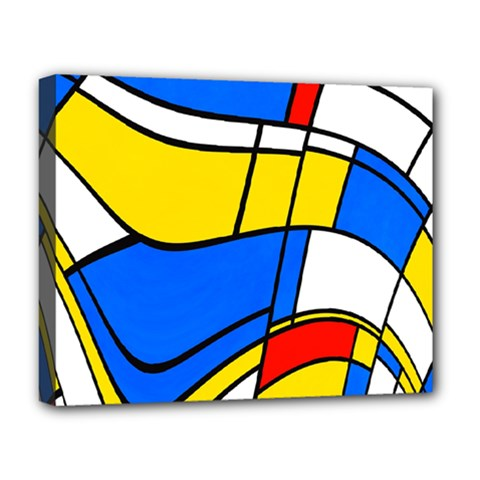Colorful Distorted Shapes Deluxe Canvas 20  X 16  (stretched) by LalyLauraFLM