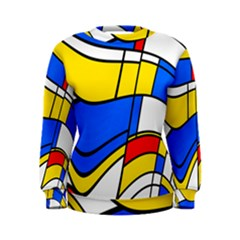 Colorful distorted shapes Sweatshirt by LalyLauraFLM
