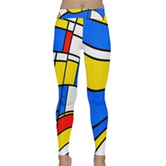 Colorful Distorted Shapes Yoga Leggings by LalyLauraFLM