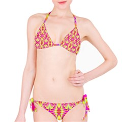 Pink And Yellow Rave Pattern Bikini by KirstenStar