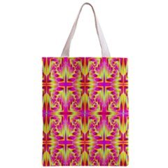 Pink And Yellow Rave Pattern Classic Tote Bag by KirstenStar