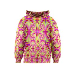 Pink And Yellow Rave Pattern Kid s Pullover Hoodie