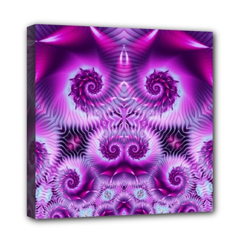 Purple Ecstasy Fractal Mini Canvas 8  X 8  (stretched) by KirstenStar