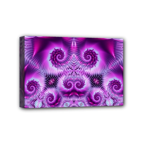 Purple Ecstasy Fractal Mini Canvas 6  X 4  (stretched) by KirstenStar