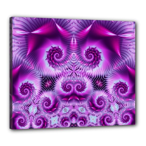 Purple Ecstasy Fractal Canvas 24  X 20  (stretched) by KirstenStar