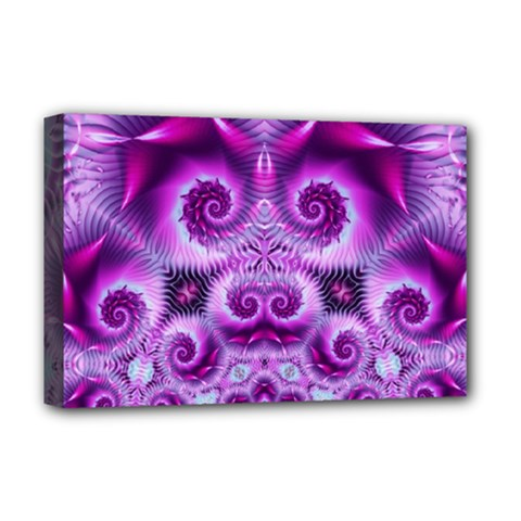 Purple Ecstasy Fractal Deluxe Canvas 18  X 12  (stretched) by KirstenStar