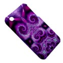Purple Ecstasy Fractal Apple iPhone 3G/3GS Hardshell Case (PC+Silicone) View5