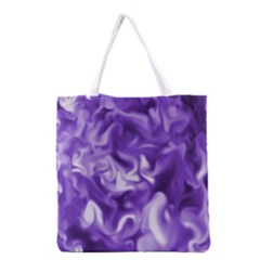 Lavender Smoke Swirls Grocery Tote Bag by KirstenStar