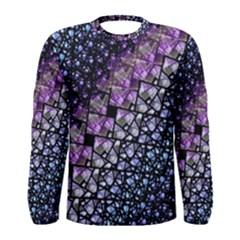 Dusk Blue And Purple Fractal Men s Long Sleeve T Shirt