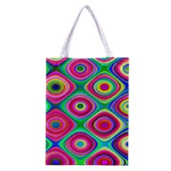 Psychedelic Checker Board Classic Tote Bag by KirstenStar