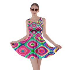 Psychedelic Checker Board Skater Dress by KirstenStar