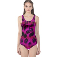 Pink Leopard One Piece Swimsuit