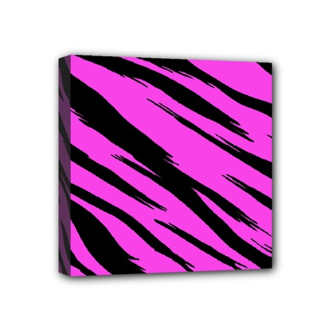 Pink Tiger Mini Canvas 4  X 4  (framed) by ArtistRoseanneJones