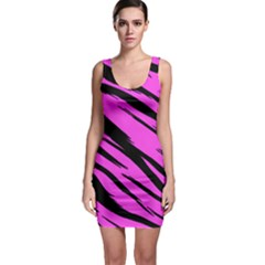Pink Tiger Bodycon Dress by ArtistRoseanneJones