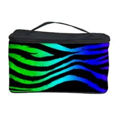 Rainbow Zebra Cosmetic Storage Case by ArtistRoseanneJones