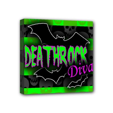 Deathrock Diva Mini Canvas 4  X 4  (framed) by ArtistRoseanneJones
