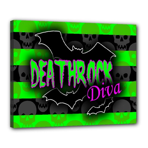 Deathrock Diva Canvas 20  X 16  (framed) by ArtistRoseanneJones