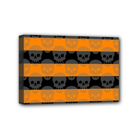Deathrock Stripes Mini Canvas 6  X 4  (framed) by ArtistRoseanneJones