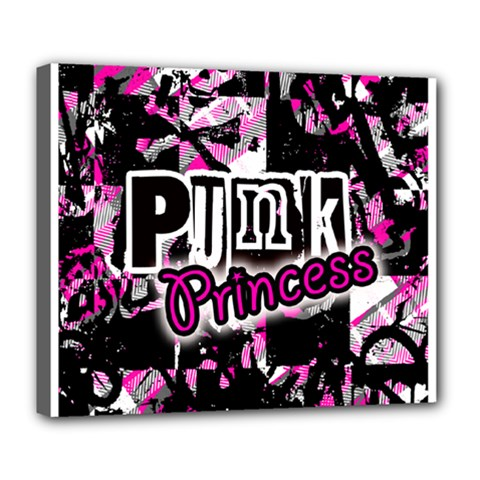 Punk Princess Deluxe Canvas 24  X 20  (framed) by ArtistRoseanneJones