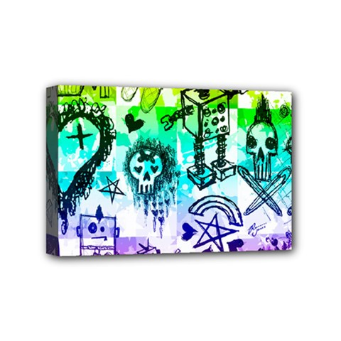 Rainbow Scene Kid Sketches Mini Canvas 6  X 4  (framed) by ArtistRoseanneJones