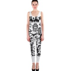 Robot Crowd Onepiece Catsuit
