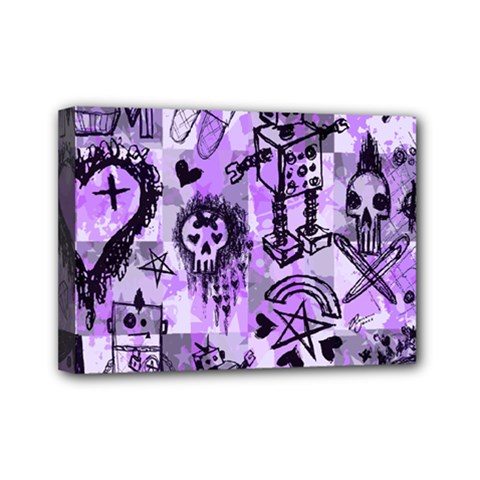 Purple Scene Kid Sketches Mini Canvas 7  X 5  (framed) by ArtistRoseanneJones