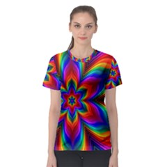 Rainbow Flower Women s Sport Mesh Tee
