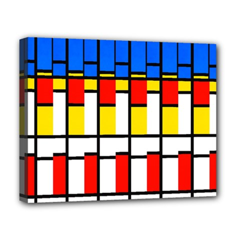 Colorful Rectangles Pattern Deluxe Canvas 20  X 16  (stretched) by LalyLauraFLM