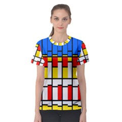 Colorful Rectangles Pattern Women s Sport Mesh Tee by LalyLauraFLM
