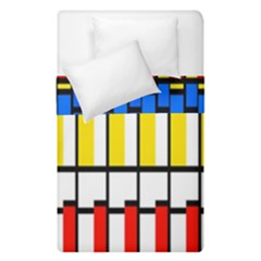 Colorful Rectangles Pattern  Duvet Cover (single Size) by LalyLauraFLM