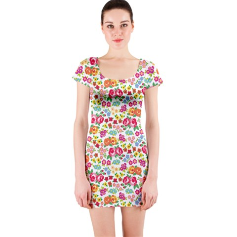 Short Sleeve Bodycon Dress Front