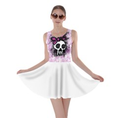 Sketched Skull Princess Skater Dress by ArtistRoseanneJones