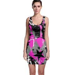 Pink Scene Kid Bodycon Dress
