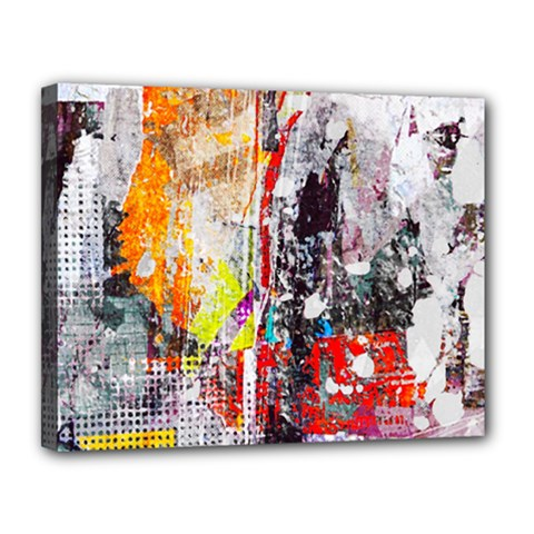 Abstract Graffiti Canvas 14  X 11  (framed) by ArtistRoseanneJones