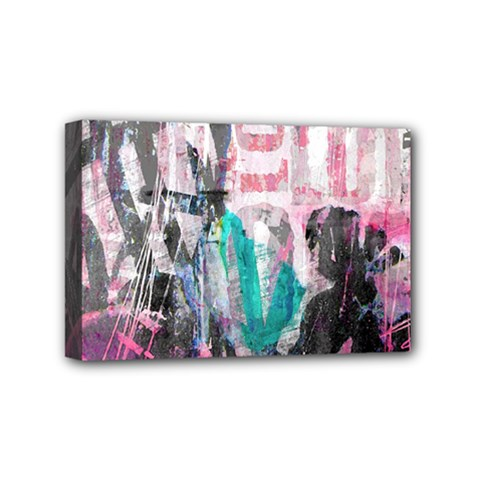Graffiti Grunge Love Mini Canvas 6  X 4  (framed) by ArtistRoseanneJones