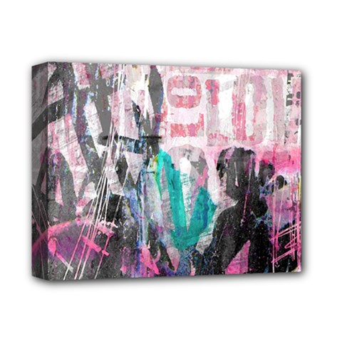 Graffiti Grunge Love Deluxe Canvas 14  X 11  (framed) by ArtistRoseanneJones