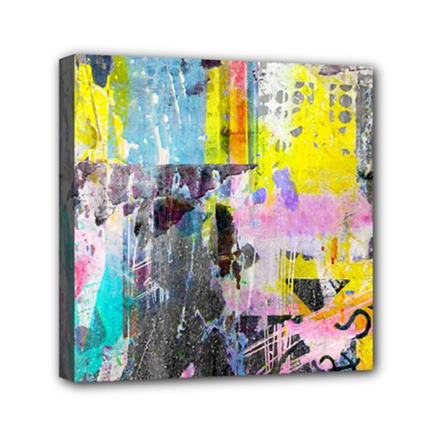 Graffiti Pop Mini Canvas 6  X 6  (framed) by ArtistRoseanneJones