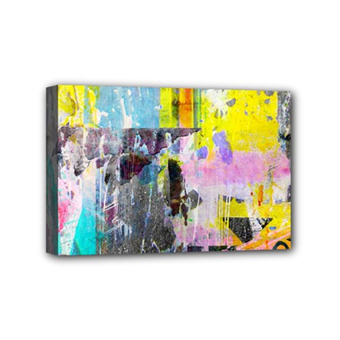 Graffiti Pop Mini Canvas 6  X 4  (framed) by ArtistRoseanneJones