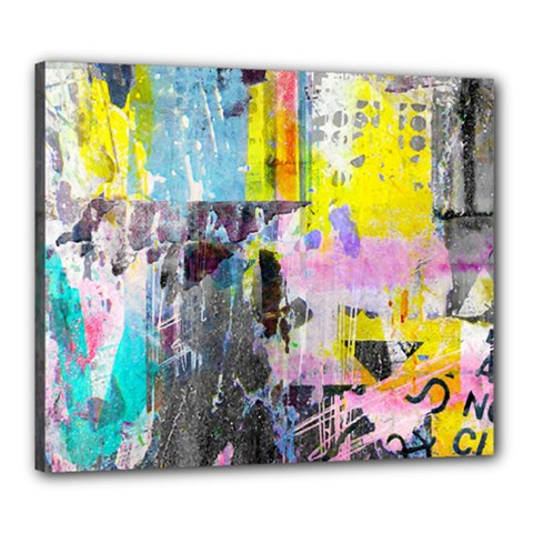 Graffiti Pop Canvas 24  X 20  (framed) by ArtistRoseanneJones