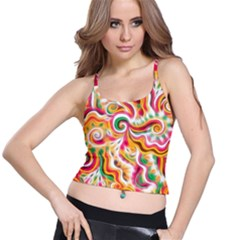 Sunshine Swirls Spaghetti Strap Bra Top by KirstenStar